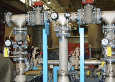 Stainless steel piping with instrumentation